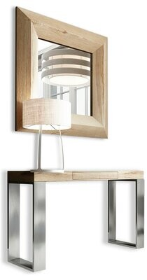 """Brayden Studio Clemens 31.5"""" Console Table and Mirror Set Color: High Gloss"""