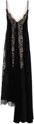 Stella McCartney Lace-trimmed Velvet Maxi Slip Dress