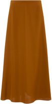 Rosetta Getty Terracotta Flared Long Skirt