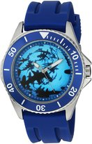 EWatchFactory Men's 'Shark Week' Quartz Stainless Steel and Rubber Sport Watch, Color: (Model: WDC000091)