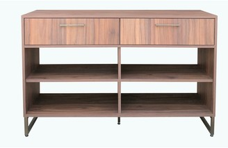 Jhunt And Co Allen Entryway Console Table with Open Shelves