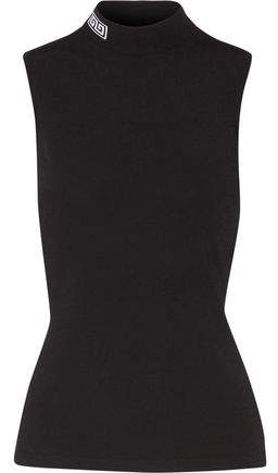Versace Stretch-Jersey Turtleneck Top