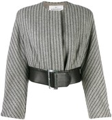 Valentino Pre Owned 1980's belted cropped jacket