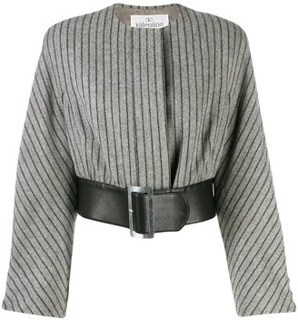 Valentino Pre-Owned 1980's Belted Cropped Jacket