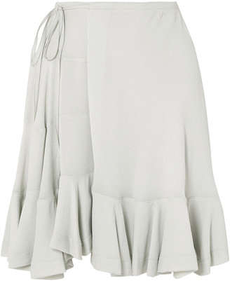 Chloé Ruffled Crepe Mini Skirt