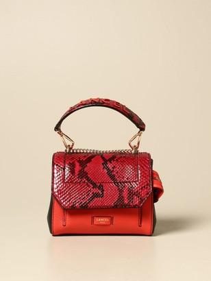 Lancel Mini Bag Ninon Mini Bag In Grained Leather And Python Print Leather