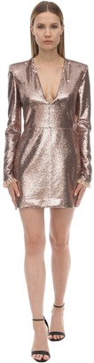 Philosophy di Lorenzo Serafini V Neck Sequined Mini Dress