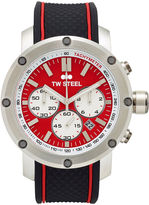 TW Steel Mens Chronograph Black and Red Grandeur Tech Strap Watch