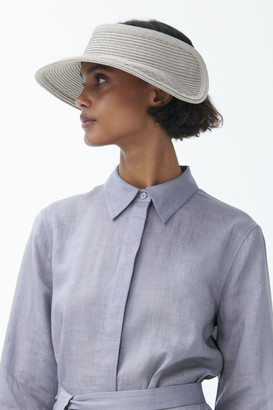 Cos Oversized Brim Straw Visor