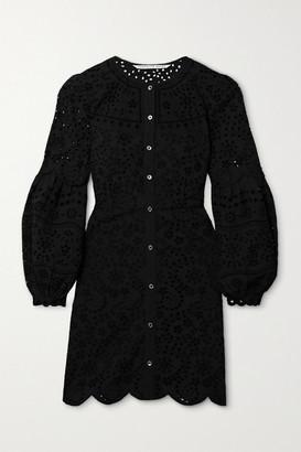 Veronica Beard Yana Broderie Anglaise Cotton Mini Dress