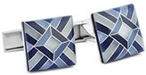 Ike Behar Men's Mosaic Cats Eye Stone Cufflinks