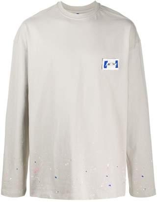 Ader Error paint splatter sweatshirt