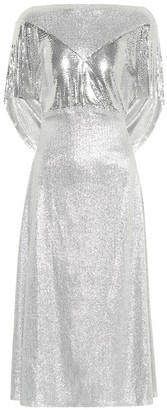 Paco Rabanne Metallic midi dress
