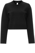 Proenza Schouler Perforated Back Cropped Sweater