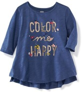 Old Navy Slub-Knit Graphic Top for Toddler Girls