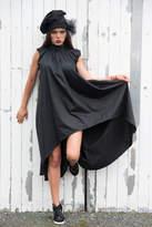 Etsy Black Dress / Loose Draped Dress / Open Back Dress / Black Tunic / Asymmetric Dress / Summer Dress /