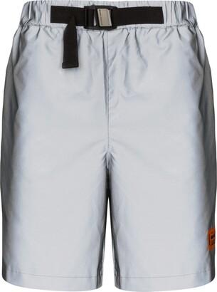 Heron Preston Reflex belted logo shorts