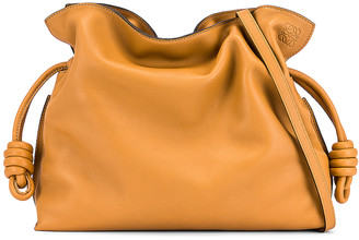Loewe Flamenco Clutch in Warm Desert | FWRD
