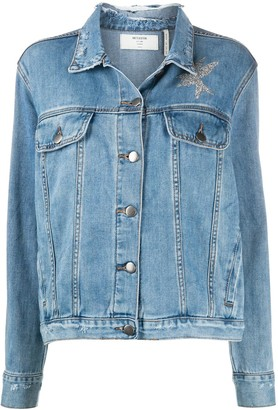 One Teaspoon La Femme print denim jacket