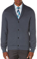 Perry Ellis Quilted Shawl Collar Cardigan