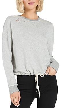 n:philanthropy Olympia Distressed Drawstring Sweatshirt