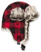 Mossimo Men's Buffalo Check Fur Trapper Red/Black One Size