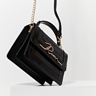 River Island Womens Black 'River' large satchel bag