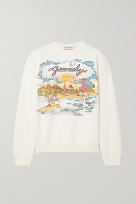Givenchy - Printed Cotton-jersey Sweatshirt - White