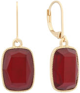 MONET JEWELRY Monet Red and Gold-Tone Drop Earrings