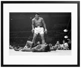 Sonic Editions Muhammad Ali Taunting Sonny Liston (Framed)