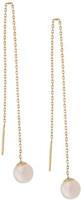 Redline 18kt yellow gold Sensuelle akoya pearl chain earrings