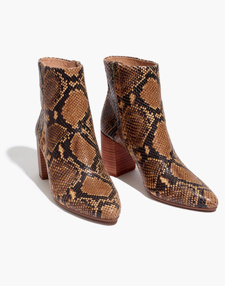Madewell The Fiona Boot in Snake Embossed Leather