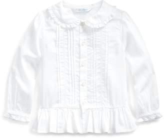 Ralph Lauren Ruffle-Trim Cotton Top