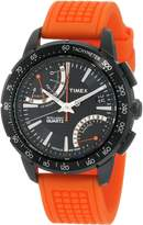 Timex Men's T2N707 Intelligent Quartz SL Series Fly-Back Chronograph Orange Silicone Strap Watch