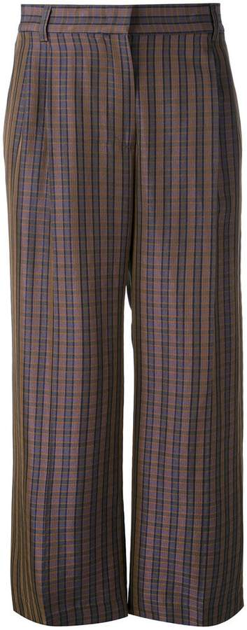 Aspesi checked cropped trousers