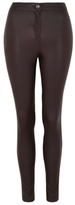 George Faux Leather High Rise Super Skinny Trousers