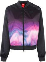 Nike printed bomber jacket - women - Cotton/Polyester - M
