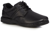 Hush Puppies Black Leather 'bennett' Lace Up Shoes