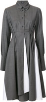Jil Sander Navy pleated waist shirt dress