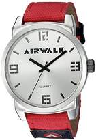 Airwalk Men's Quartz Metal and Silicone Watch, Multi Color (Model: AWW-5085-RE)