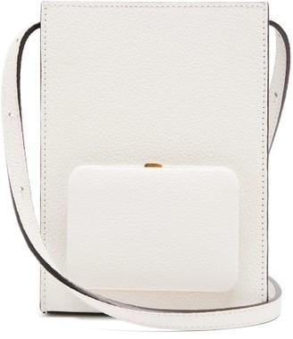 Lutz Morris Parker Grained-leather Cross-body Bag - Ivory