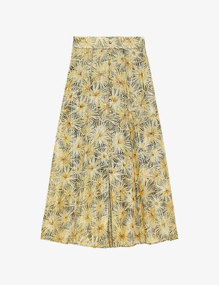 The Kooples Floral-print crepe maxi skirt