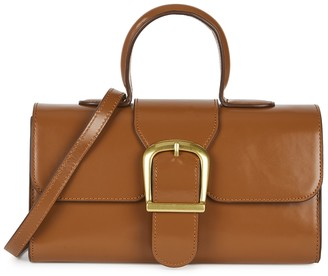 Rylan 5.2 Small Brown Leather Top Handle Bag