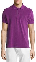 Vilebrequin Terry Short-Sleeve Polo Shirt, Purple