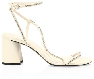 3.1 Phillip Lim Drum Crystal-Embellished Leather Sandals