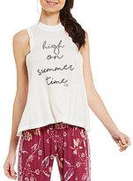 Billabong High On Summer Time High Neck Graphic Swing Tank Top