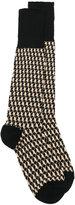 Gucci geometric pattern socks