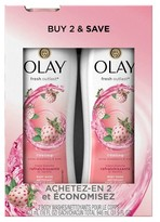 Olay Fresh Outlast Cooling White Strawberry & Mint Twin Body Wash - 32 oz