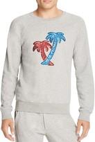 Marc Jacobs Sequined Palm Trees Heathered Sweatshirt