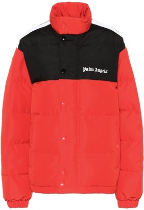 Palm Angels Logo puffer jacket